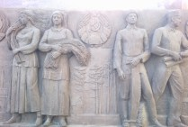 Peoples of the USSR: two Ukrainian women and two Belarusian men