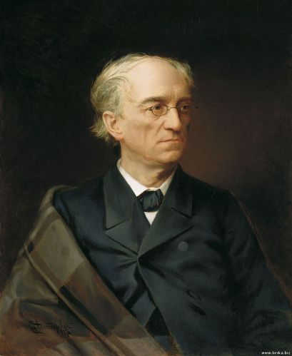 The Portrait of Fyodor Tyutchev by Stepan Alexandrovsky (1876)