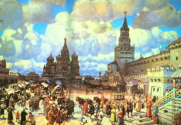 Apollinary Vasnetsov - Red Square in the second half of the 17th century. (1925).