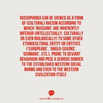 Definition of Russophobia as cultural racism