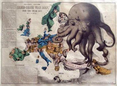 Russia comic war map