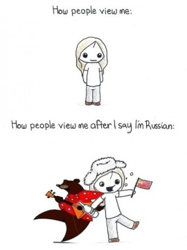 How people view me after I say I'm Russian