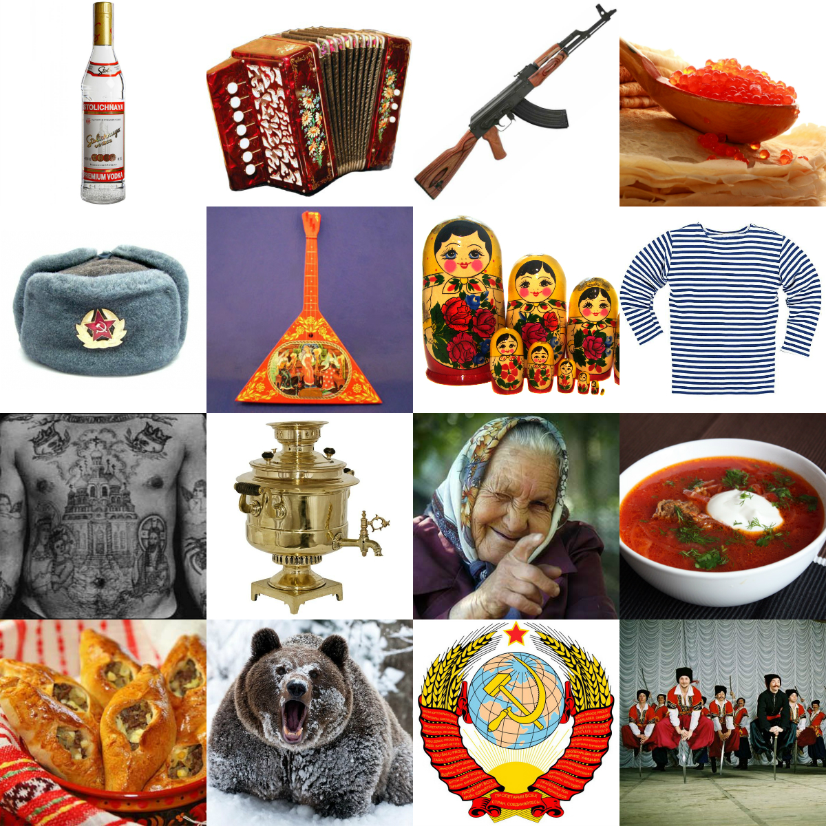 stereotypes of the russian character An ethnic stereotype, national stereotype, or national character is a system of beliefs about typical characteristics of members of a given ethnic group or nationality, their status, society and cultural norms.