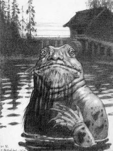 Ivan Bilibin - Vodyanoy, 1934.