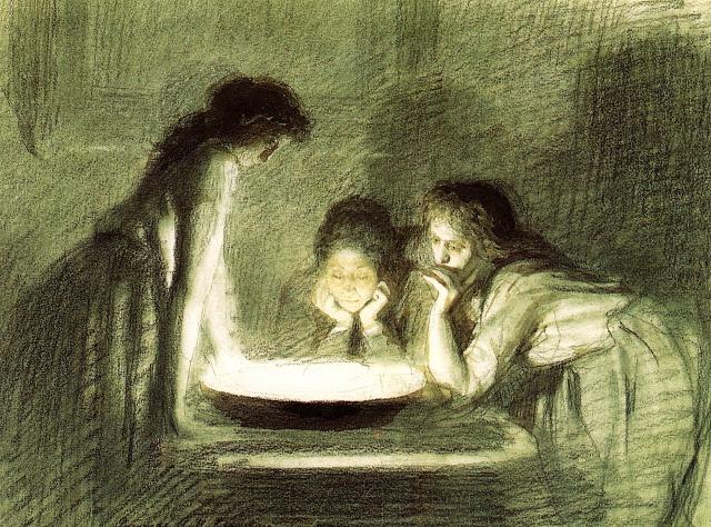 Ivan Kramskoi - Christmas Eve Fortune Telling, 1870s.