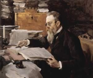 Portrait of Nikolai Rimsky-Korsakov by Valentin Serov