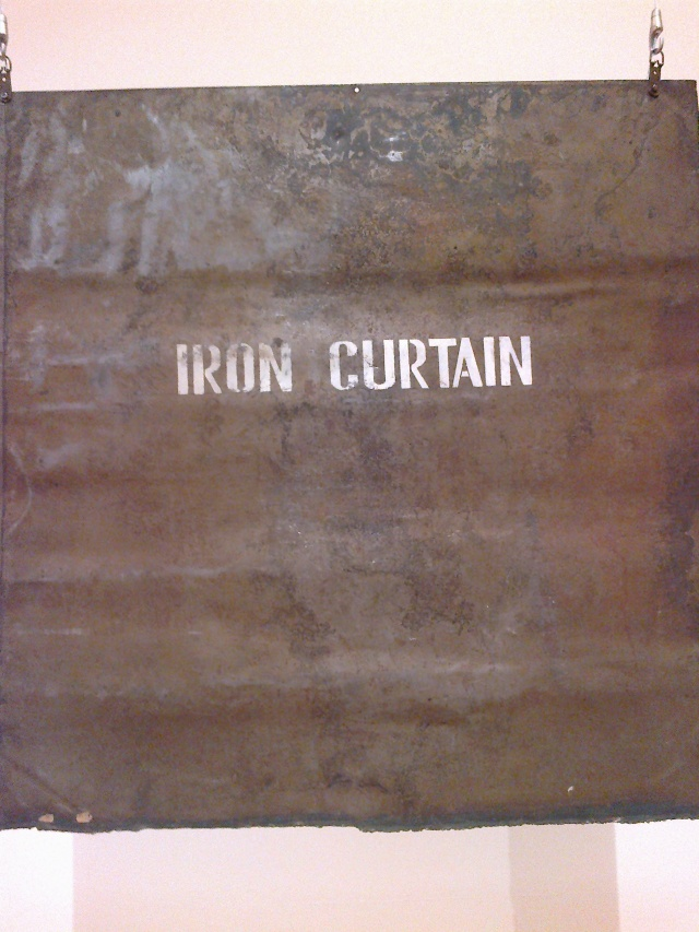 "Iron Curtain by the Group ""Nest"", 1976. Oil on metal. The State Tretyakov Gallery."