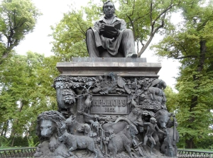 Monument to Ivan Krylov in the Summer Garden, Saint Petersburg, by Peter Klodt