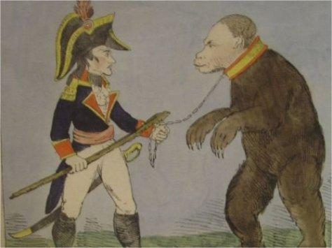 Napoleon Bonaparte and Paul I as a Russian Bear