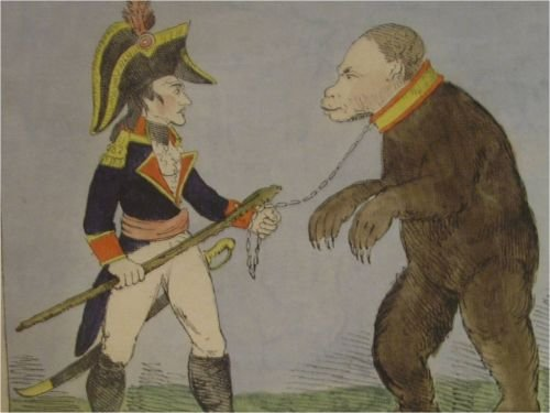 Napoleon Bonaparte and Paul I as a Russian Bear