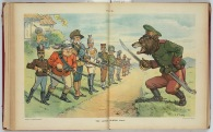 Russian bear stands in opposition to the other foreign powers