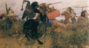 Viktor Vasnetsov – Battle between Scythians and Slavs, 1881.