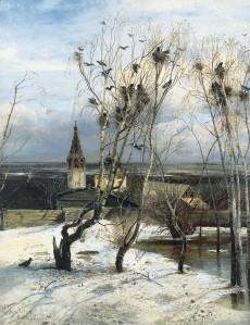 Aleksey Savrasov - The Rooks Have Come Back, 1871.