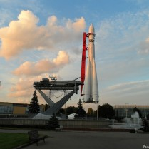 Copy of the Vostok 8K72K rocket at the All-Russian Exhibition Center