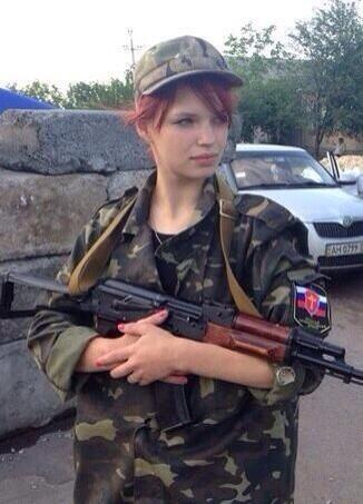 Female self-defense fighter