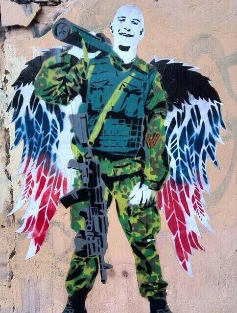 Graffiti The Guardian Angel of Novorussia