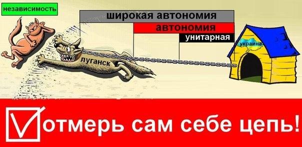 Lugansk Referendum Poster
