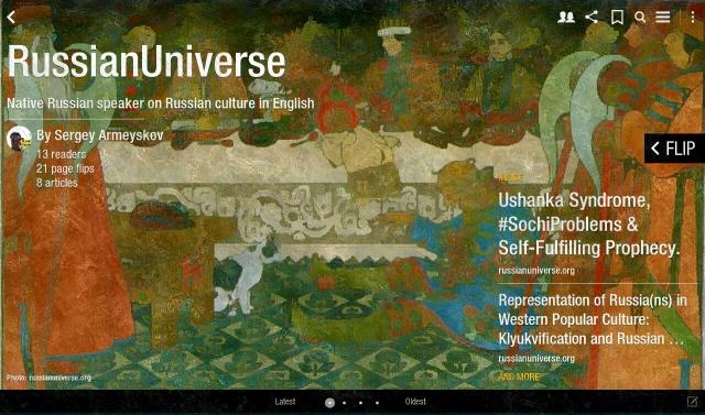 Russian Universe Flipboard