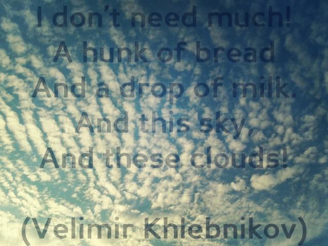 Velimir Khlebnikov, Poem