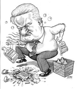 Boris Yeltsin Caricature