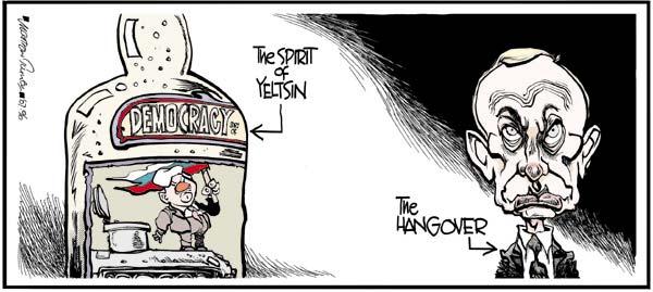 Boris Yeltsin Vladimir Putin Caricature