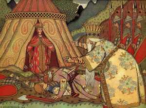 Ivan Bilibin Illustration to The Tale of Golden Cockerel (1906)