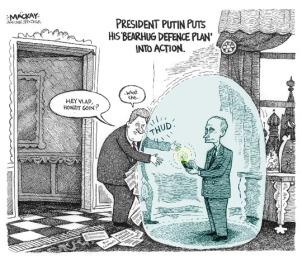 Vladimir Putin caricature