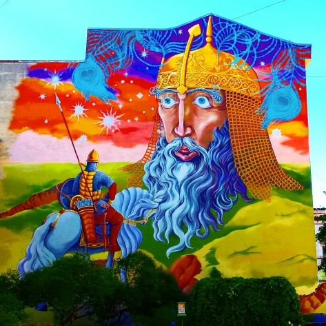 "Street art in Saint Petersburg (from Pushkin's poem ""Ruslan & Lyudmila"")"