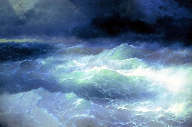 Ivan Aivazovsky - Among the waves, 1898.