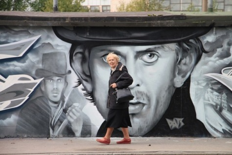Street Art: Rodion Raskolnikov (Saint Petersburg).