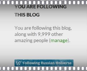 Russian Universe 9999 followers