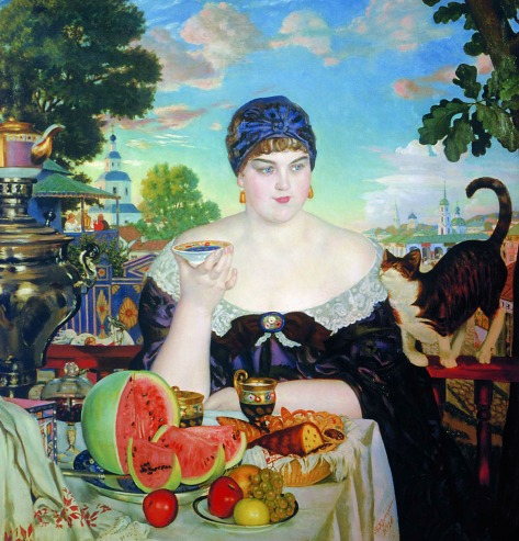Boris Kustodiev - The Merchant's Wife (1918).