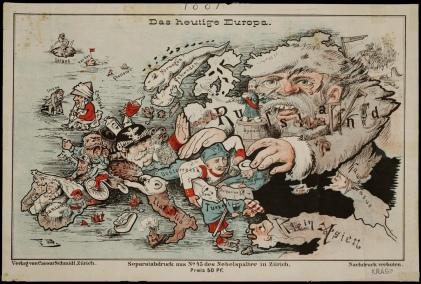 'Das heutige Europa' (Today's Europe). Published in Zurich by Caesar Schmidt [ca. 1875].