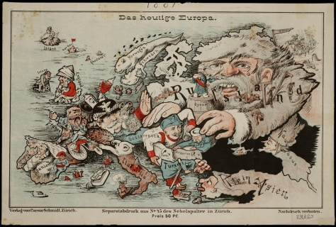 'Das heutige Europa' (Today's Europe). Published in Zurich by Caesar Schmidt [ca. 1875].