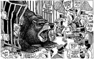 Russian bear caricature