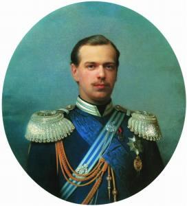 Sergey Zaryanko - The Portrait of Grand Duke Alexander Alexandrovich in a court suit, 1867.