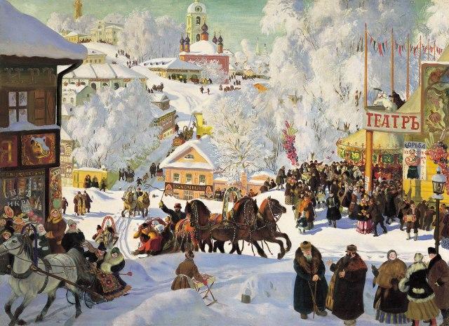 Boris Kustodiev - Maslenitsa, 1919.