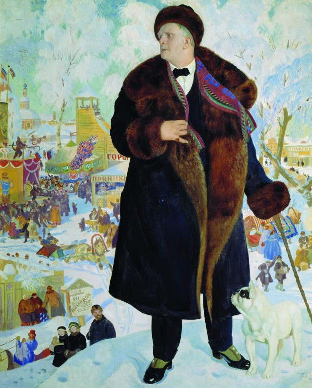 Boris Kustodiyev - Portrait of Fyodor Shalyapin, 1921.