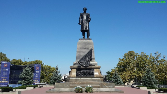 Monument to Russian admiral Pavel Stepanovich Nakhimov (1802-1855), Sevastopol, Crimea.