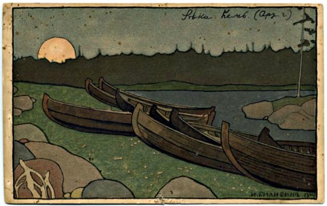 Ivan Bilibin – Kem River, 1904.