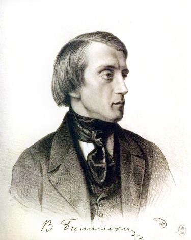 Vissarion Belinsky, lithograph by Kirill Gorbunov, 1843.