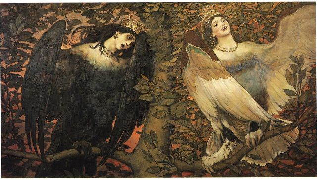 Viktor Vasnetsov — Sirin & Alkonost — Birds of Joy and Sorrow, 1896.