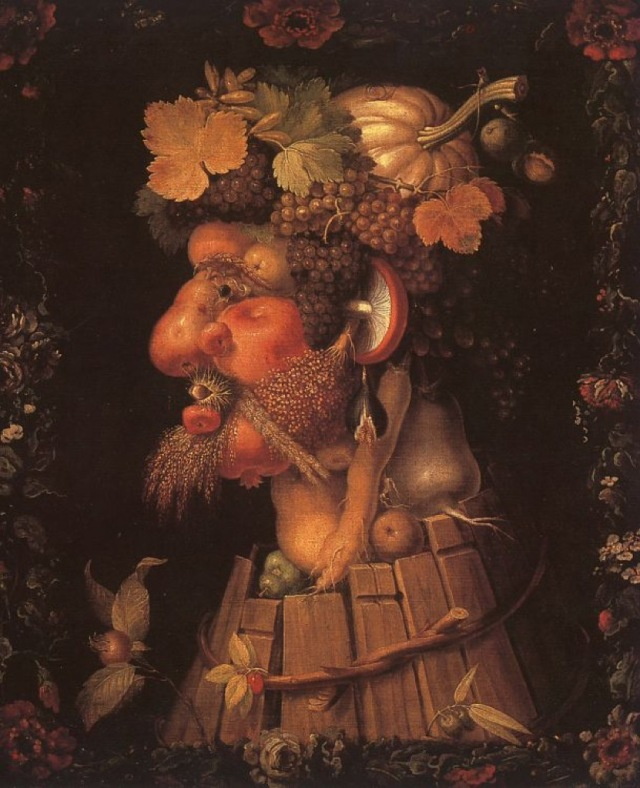 Giuseppe Arcimboldo - Autumn, 1573, oil on canvas, Muse du Louvre, Paris.