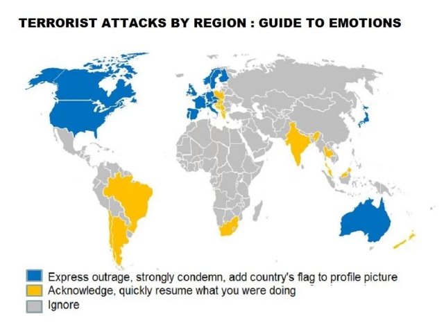 Terrorist attacks by region
