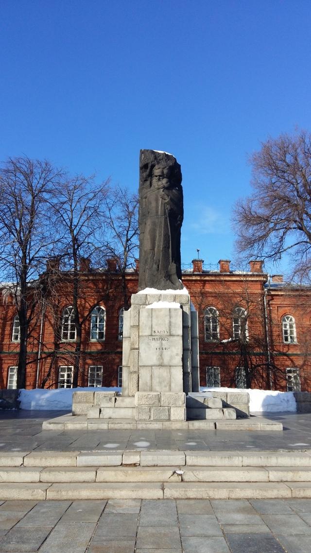 Monument to Karl Marx in Ulyanovsk, 1920.