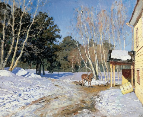 Isaak Levitan - March (1895). Oil on canvas, State Tretyakov Gallery.