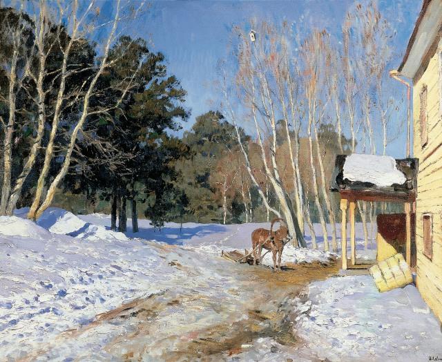 Isaak Levitan - March (1895). Oil on canvas, State Tretyakov Gallery.