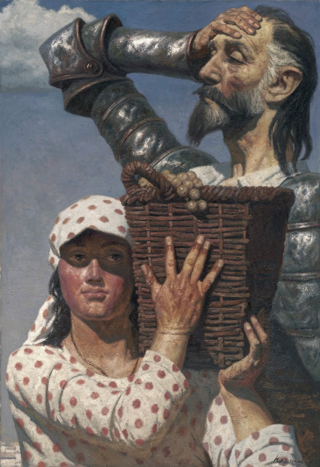 Gely Korzhev - Dulcinea and the Knight, 1997-1998.