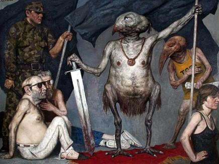 Gely Korzhev - Triumphator (1993-1996). Oil on Canvas.