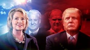 Hillary Clinton, Boris Yeltsin, Donald Trump and Gennady Zyuganov.